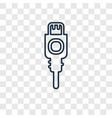 charger concept linear icon isolated on vector image
