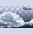 clouds on transparent background vector image vector image