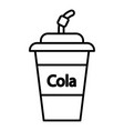 cola plastic glass icon outline line style vector image vector image
