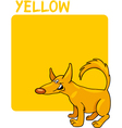 Color Yellow and Dog Cartoon vector image vector image