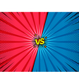 Comic versus battle intro background vector image vector image