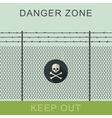 Danger zone and skull sign vector image vector image