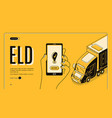 eld electronic logging device isometric landing vector image vector image