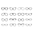 Eyeglasses Set Flat vector image