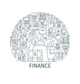 finance thin line concept vector image vector image