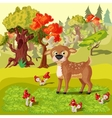 Forest Deer Cartoon Style vector image vector image