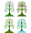 four seasonal tree vector image vector image