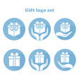 gift logo set vector image vector image