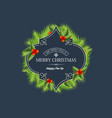 greeting christmas coniferous wreath template vector image vector image