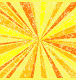 grunge sun rays background vector image