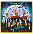 Halloween Zombie Party Poster horror night vector image vector image
