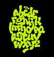 hand lettering graffiti font alphabet vector image vector image