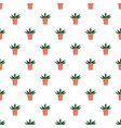 home cactus pot pattern seamless vector image
