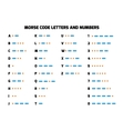 International Morse Code alphabet with numbers vector image vector image