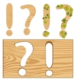 Interrogative and exclamation point from tree vector image vector image