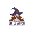 little witch portrait young attractive witch vector image vector image