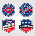 made in america usa label set retro design vector image