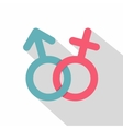 Male and female symbol icon flat style vector image vector image