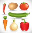 mixed vegetables - set 1 2 vector image vector image