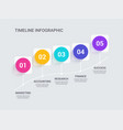 modern abstract 3d infographic template vector image vector image