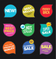 modern sale stickers and tags colorful collection vector image vector image