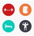Modern sport colorful icons set