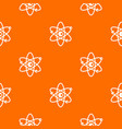 molecules of atom pattern seamless vector image vector image