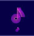 music multi colored logo note vector image