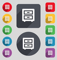 Nightstand icon sign A set of 12 colored buttons vector image vector image