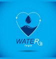 ocean freshness theme logo water cleansing vector image vector image
