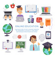 online education e-learning science vector image vector image