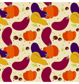 pattern autumn vegetables vector image vector image