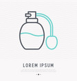 perfume spray bottle thin line icon vector image