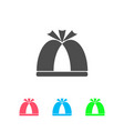 pope hat icon flat vector image vector image