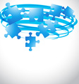 puzzle flying shape vector image vector image