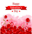 red rose petals and pink watercolor vector image vector image