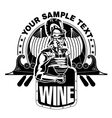 Roman legionary with a cup of wine vector image vector image