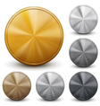 set golden silver and bronze coins vector image