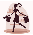 shop silhouette vector image