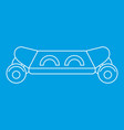 skateboard icon outline style vector image vector image
