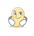 smirking soy bean character cartoon vector image