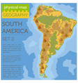 south america physical map elements build your