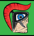 spartan warrior face profile vector image