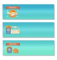 Summer travel - decorative horizontal vector image vector image