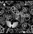 tattoo seamless pattern skull and brass knuckles vector image vector image