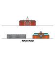 united states harvard flat landmarks vector image vector image