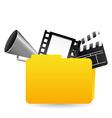 video folder vector image vector image