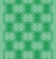 abstract circles pattern green background vector image vector image