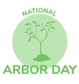 arbor day icon flat vector image vector image