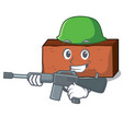 army brick character cartoon style vector image